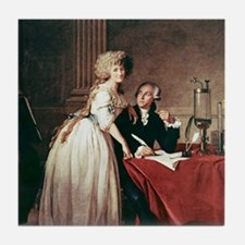 Lavoisier and his wife, 1788 Tile Coaster