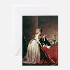 Lavoisier and his wife, 1788 Greeting Card