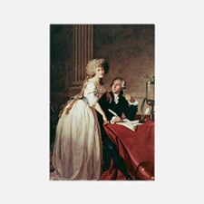 Lavoisier and his wife, 1788 Rectangle Magnet
