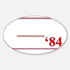 Reagan Bush 84 Sticker (Oval)