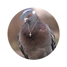 Gangsta Pigeon Ornament (Round)