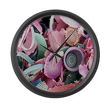 Fossilised diatoms, SEM Large Wall Clock