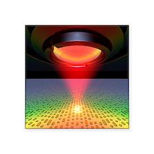 "Laser reading digital pits  Square Sticker 3"" x 3"""
