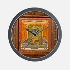 Krishna 19th Century Miniature painting Wall Clock