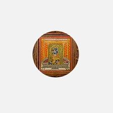 Krishna 19th Century Miniature paintin Mini Button