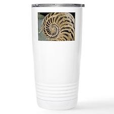 Fossilised nautilus shell Travel Mug