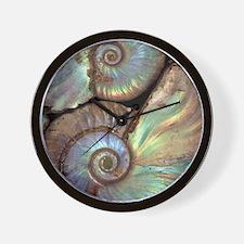 Fossilised ammonites Wall Clock
