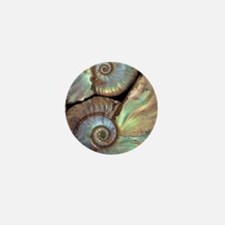 Fossilised ammonites Mini Button