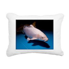 Koi Carp pool Rectangular Canvas Pillow
