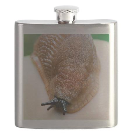 Large black slug Flask