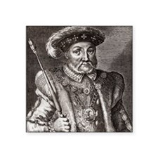 "King Henry VIII of England Square Sticker 3"" x 3"""