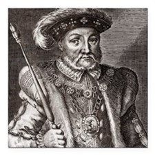 "King Henry VIII of Engla Square Car Magnet 3"" x 3"""