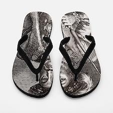 King Henry VIII of England Flip Flops