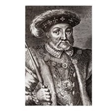 King Henry VIII of Englan Postcards (Package of 8)