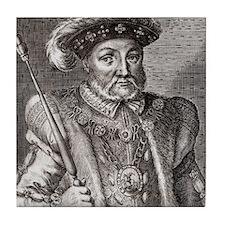 King Henry VIII of England Tile Coaster