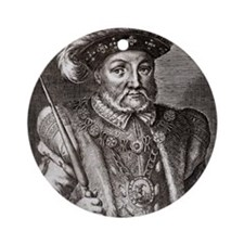King Henry VIII of England Round Ornament