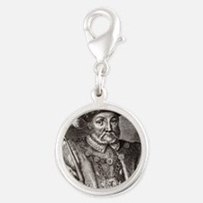 King Henry VIII of England Silver Round Charm