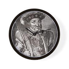 King Henry VIII of England Wall Clock