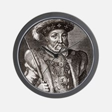 King Henry VIII of England Wall Clock