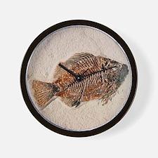 Fossilised fish, Priscacara serata Wall Clock