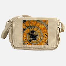 Fossil ammonite Messenger Bag