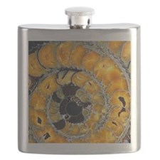 Fossil ammonite Flask