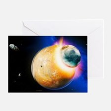 Formation of the moon Greeting Card