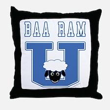 Baa Ram U. Throw Pillow