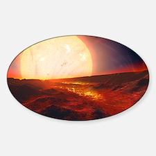 Kepler-10b exoplanet, artwork Sticker (Oval)