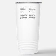 Engineer Translation Guide Thermos Mug