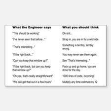 Engineer Translation Guide Sticker (Rectangle)