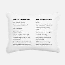 Engineer Translation Gui Rectangular Canvas Pillow