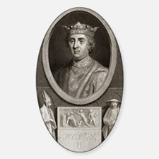 King Henry II of England Sticker (Oval)
