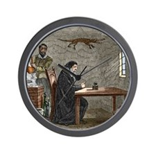 John Dee and Edward Kelly Wall Clock