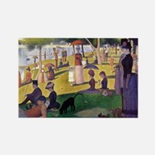 Georges Seurat Rectangle Magnet