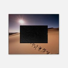 Footprints over sand dunes Picture Frame