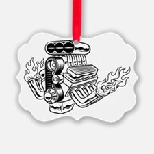 Hot Rod Engine Ornament