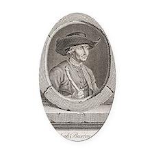 Jedediah Buxton, English mathemati Oval Car Magnet