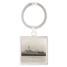 uss hermitage framed panel print Square Keychain