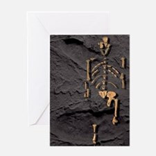 Footprints and skeleton of Lucy Greeting Card
