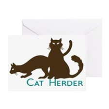 Cat Herder Greeting Card