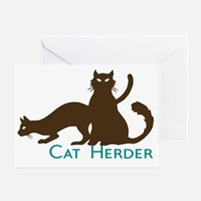 Cat Herder Greeting Card