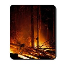 Forest fire Mousepad