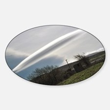 Flying saucer cloud Sticker (Oval)