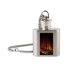 Forest fire Flask Necklace