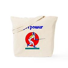 Girl Power Fencing Tote Bag