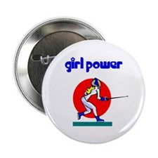 Girl Power Fencing Button
