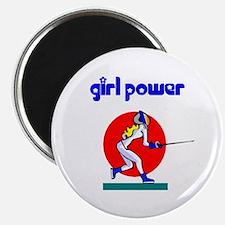 Girl Power Fencing Magnet