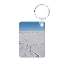 Footprints in snow Keychains