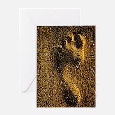 Footprint in sand Greeting Card